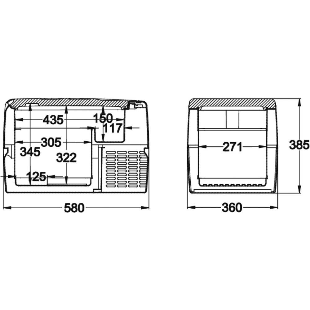 Dometic Group Coolfreeze Cf 35 Cool Box Compressor 12 V 24 110 Volt Wiring Diagram 230 Grey 31 L Eeca