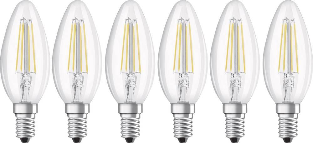 LED Kronljus E14 OSRAM Filament 4 W 470 lm A++ Varmvit 6 st