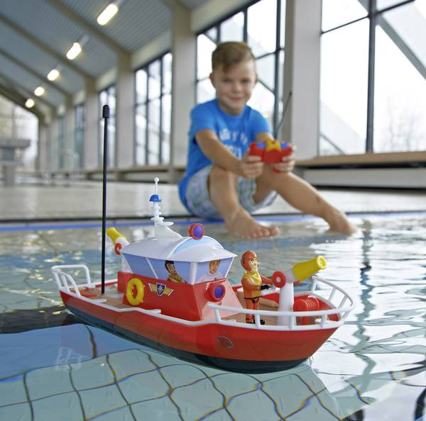dickie toys fireman sam titanium rc model speedboat for