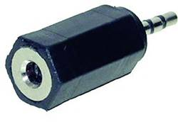 Klinken adapter, klinken vtič 2.5 mm - klinken vtičnica 3.5 mm stereo, št. polov:3 TRU Components 1 kos