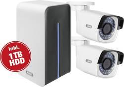 WLAN, LAN Trådløst overvågningssæt Udendørs ABUS Med 2 kameraer