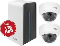 LAN, WLAN Trådløst overvågningssæt Udendørs ABUS Med 2 kameraer