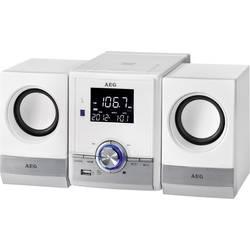 Stereoanlæg AEG MC 4461 BT Music Center AUX, Bluetooth, CD, FM, USB, Batteriopladningsfunktion Hvid