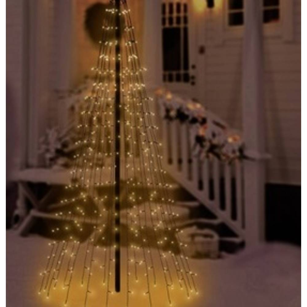 polarlite led christmas tree chain lights insideoutside mains powered 400 led warm white illuminated length 2 m