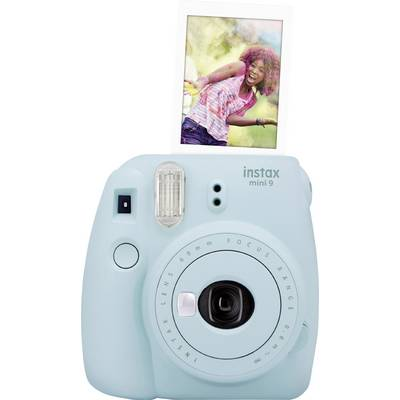 Image of Fujifilm instax mini 9 Instant Camera - Ice Blue with mini film Photo Paper 10 Packs