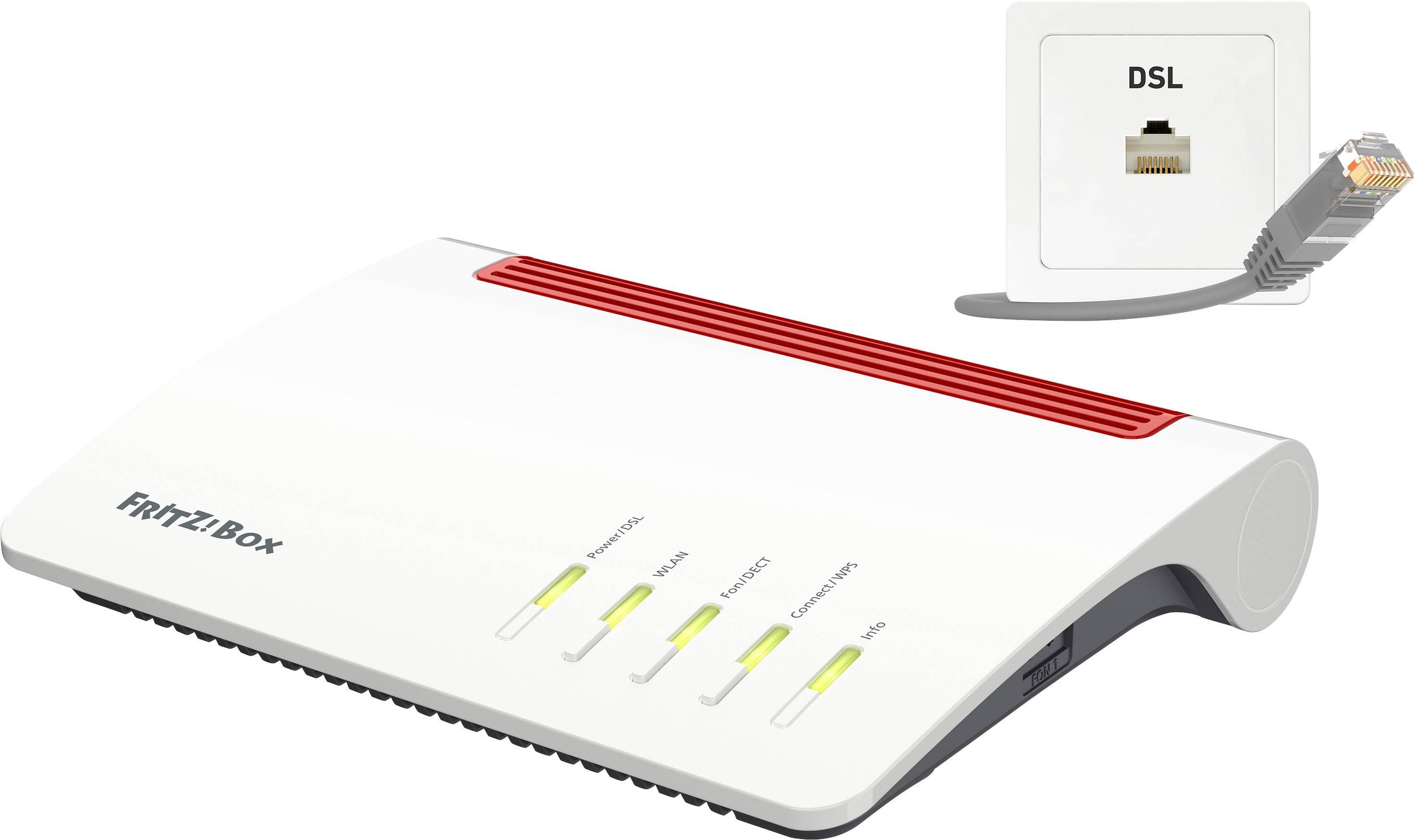 AVM FRITZBox 2000 A/CH Wi Fi modem router Built in modem VDSL, ADSL 200.200  GHz, 200 GHz 200.20033 MBps