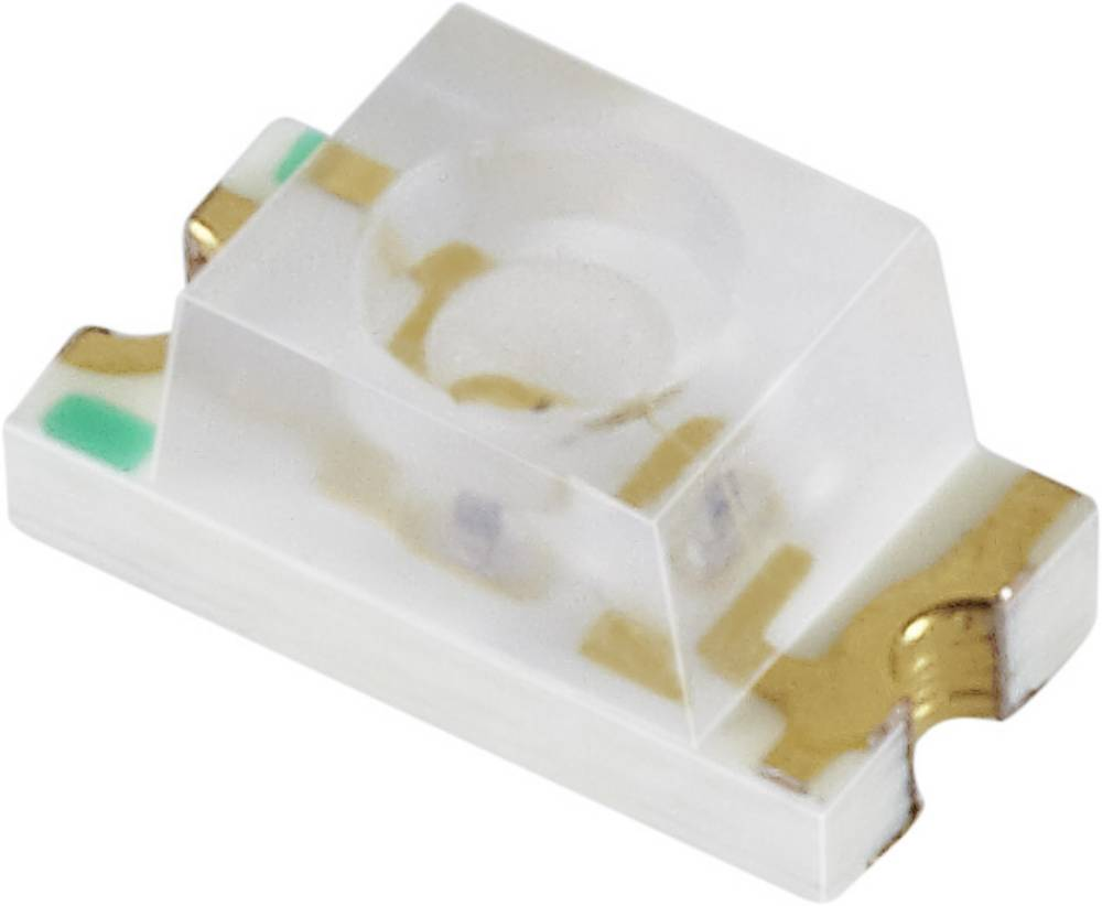 SMD LED Everlight Opto 11-21UYC/S530-A2/TR8 1206 73 mcd 60 ° Gul