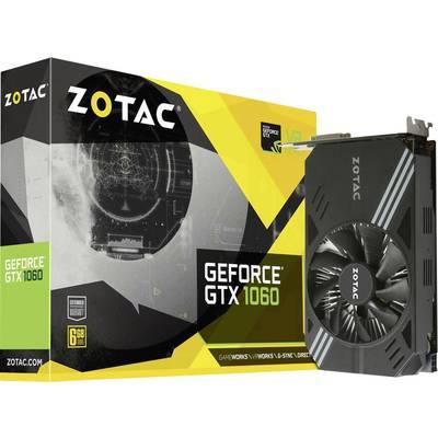 Zotac GPU Nvidia GeForce GTX1060 ITX 6 GB GDDR5 RAM PCIe x16 HDMI™, DVI, DisplayPort