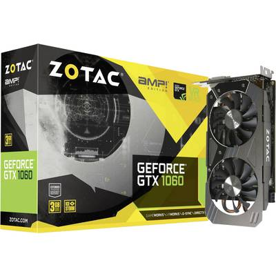 Zotac GPU Nvidia GeForce GTX1060 AMP! Edition 3 GB GDDR5 RAM PCIe x16 HDMI™, DVI, DisplayPort