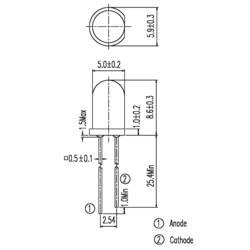 IR-emitter Everlight Opto 940 nm 20 ° 5 mm med radial tråd IR 333