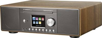 Image of FM Table top radio Albrecht DR 890 AUX, Bluetooth, CD, DAB+, DLNA, Internet radio, LAN, USB, WiFi Multi-room Walnut
