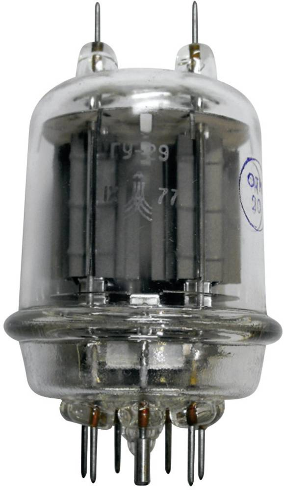 Elektronka 829 B = GU 29 = SRS 4453 dvojna pentoda 600 V 110 mA št. polov: 7 podnožje: septar