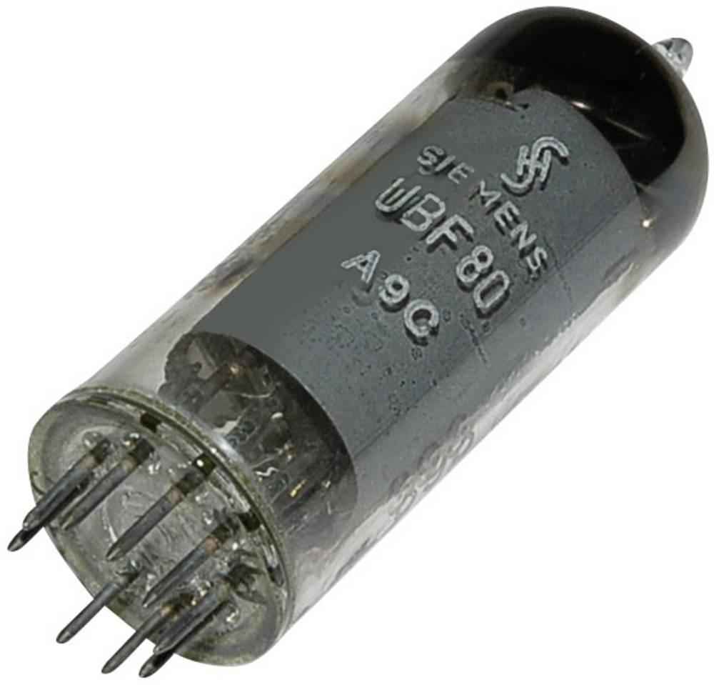 Elektronka UBF 80 = 17 N 8 dvojna dioda-pentoda 100 V 2.8 mA št. polov: 9 podnožje: novalno