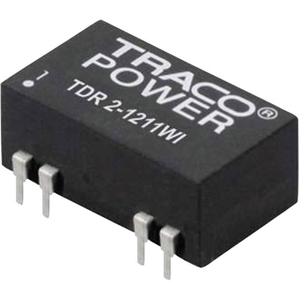 DC/DC pretvornik za tiskano vezje TracoPower TDR 2-4823WI 48 V/DC 15 V/DC, -15 V/DC 67 mA 2 W št. izhodov: 2 x
