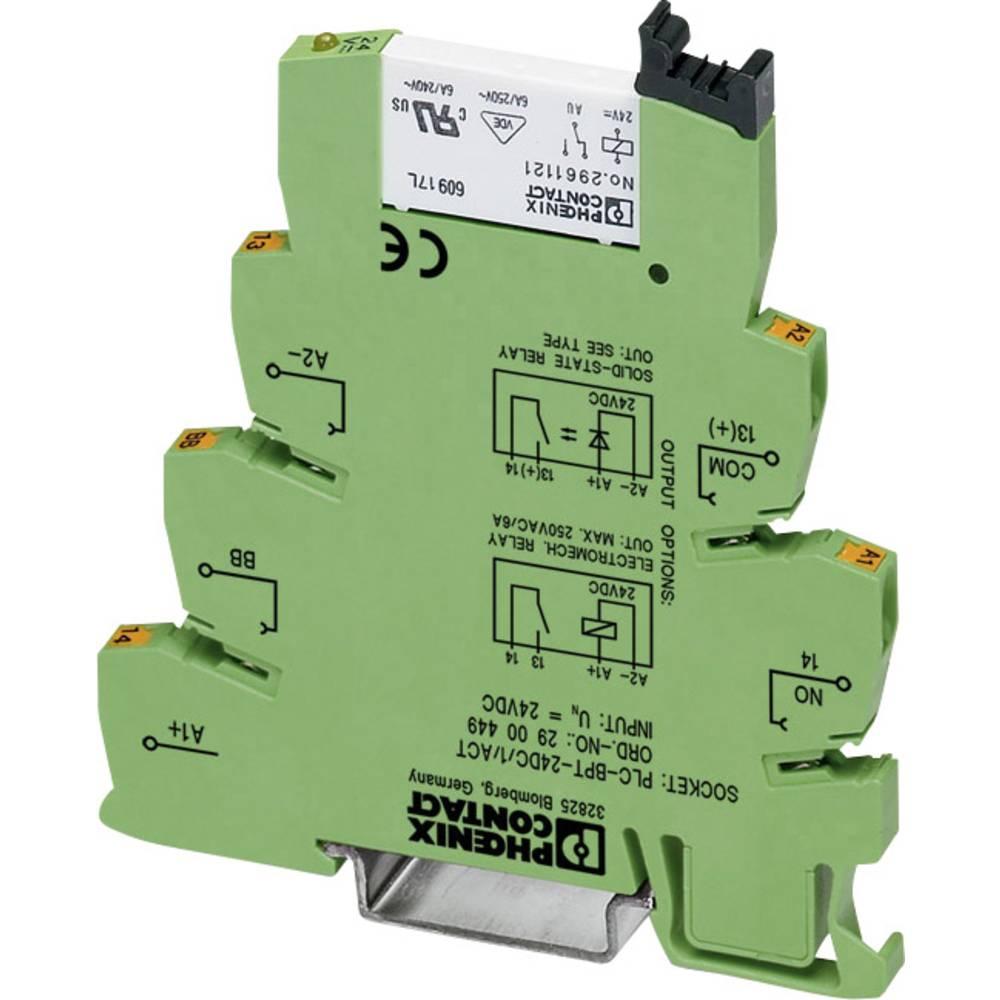 Interfacerelæ 10 stk 220 V/DC, 230 V/AC 50 mA 1 x sluttekontakt Phoenix Contact PLC-RSC-230UC/ 1AU/SEN