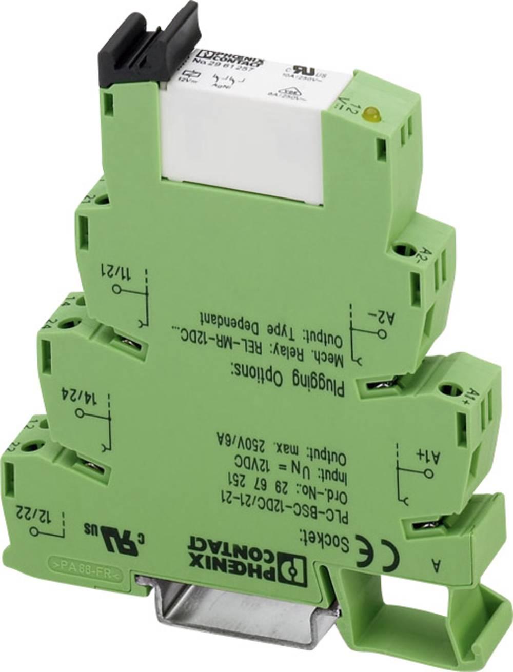 Interfacerelæ 1 stk 24 V/DC 6 A 2 x omskifter Phoenix Contact PLC-RSC- 24DC/21-21