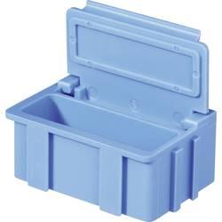 SMD-sorteringskasse, ikke-ledende, ensfarvet Licefa SMD BOX N2 N22288 (L x B x H) 37 x 12 x 15 mm Antal bokse 1 Blå