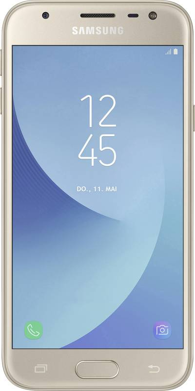 Search and compare best prices of Samsung Galaxy J3 (2017) Smartphone Dual SIM 16 GB 12.7 cm (5 ) 13 MPix Android™ 7.0 Nougat Gold in UK