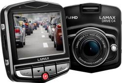 Dashcam Lamax Drive C4 Betragtningsvinkel horisontal=140 ° 12 V Display, Batteri, Mikrofon