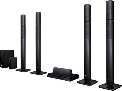 Image of LG Electronics LHB655NW 5.1 3D Blu-ray home cinema system Black Bluetooth, Cordless rear speakers, Multiroom, Smart TV