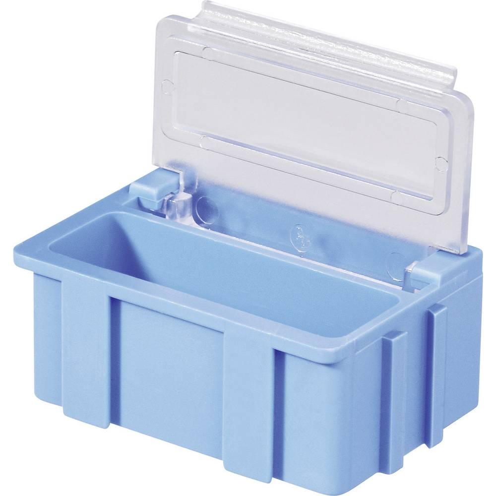 SMD škatla, rdeča, barva pokrova: prozorna 1 kos (D x Š x V) 37 x 12 x 15 mm Licefa N22361