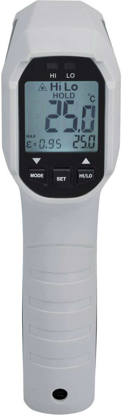 VOLTCRAFT IRF 650-12DIP IR thermometer Display (thermometer) 12:1 -35 up to +650 °C Pyrometer Calibrated to: Manufacture