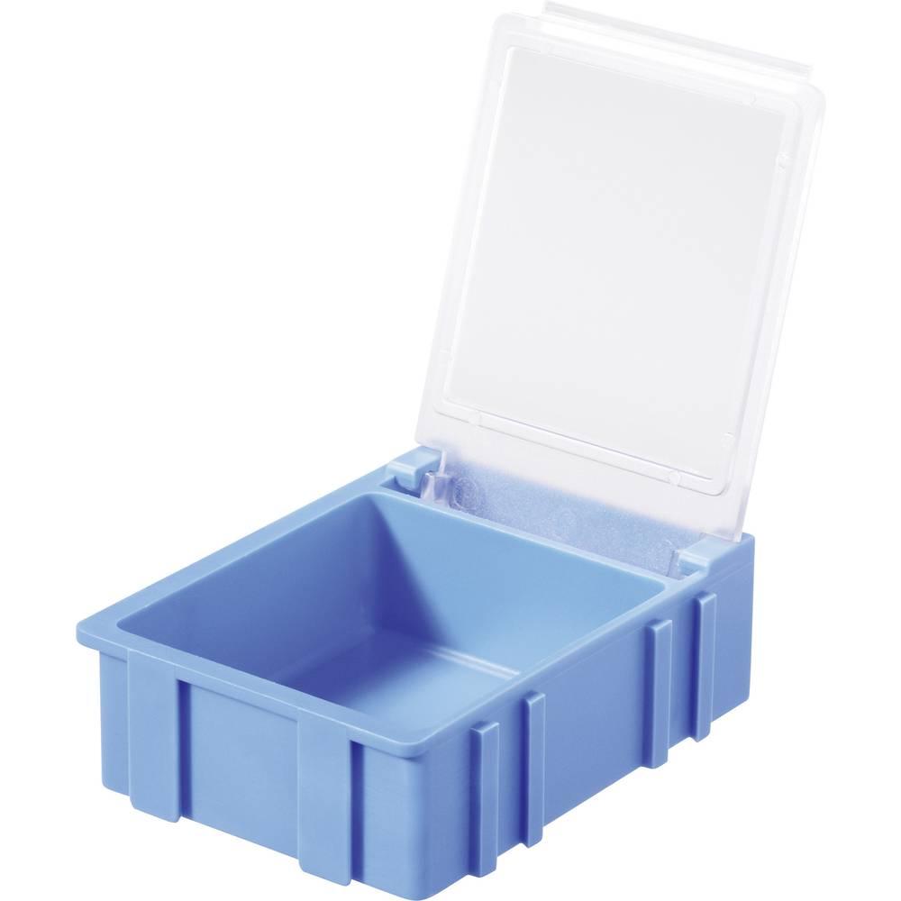 SMD škatla, modra, barva pokrova: prozorna 1 kos (D x Š x V) 41 x 37 x 15 mm Licefa N32381