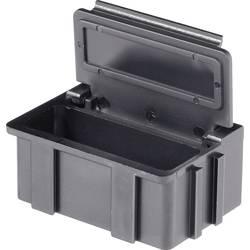 SMD-sorteringskasse, ledende, sort Licefa N2661010EGB (L x B x H) 37 x 12 x 15 mm