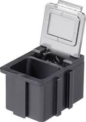 SMD-sorteringskasse, ledende, gennemsigtigt låg Licefa N168101LS (L x B x H) 16 x 12 x 15 mm
