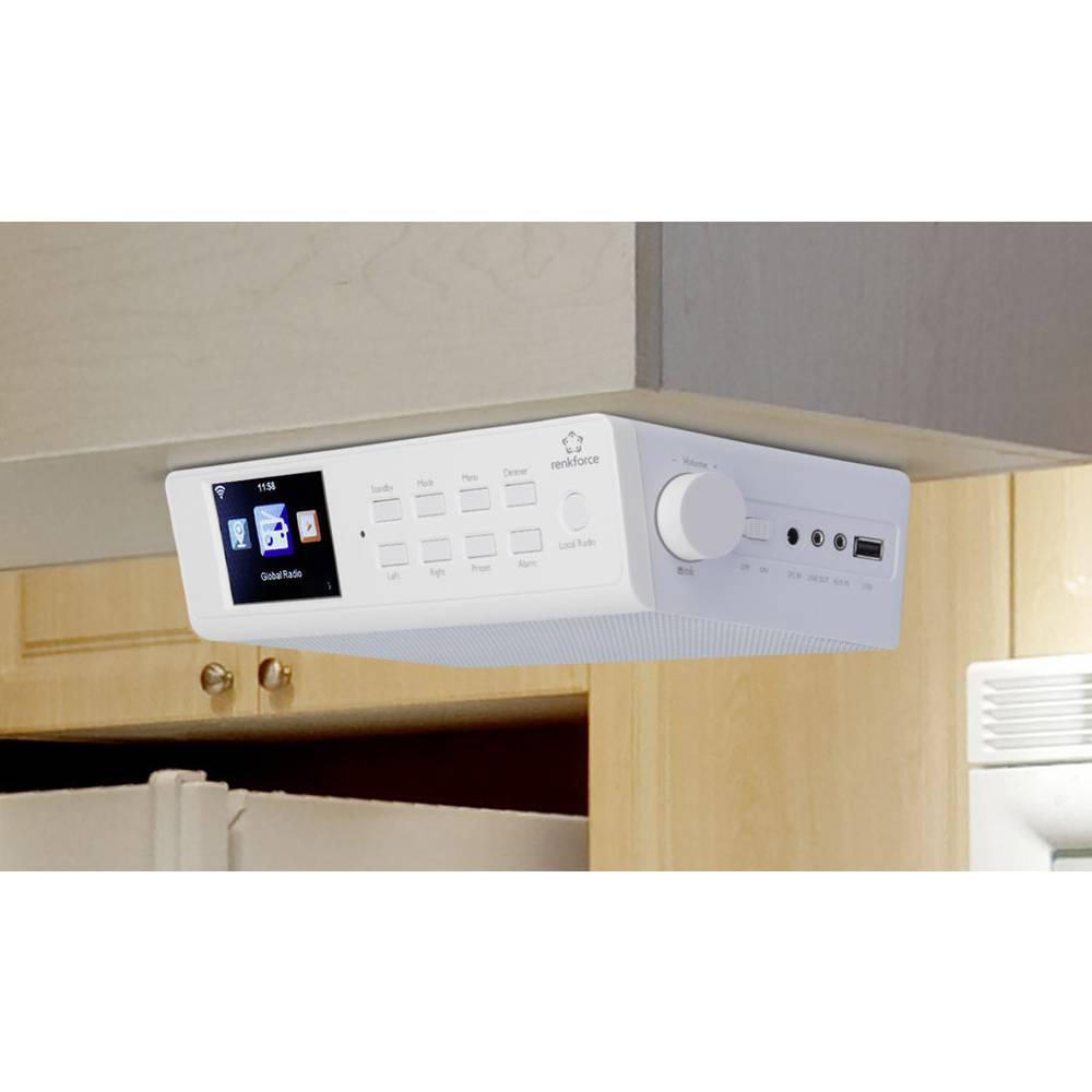 fm kitchen radio radio base component renkforce rf ir kitchen1 usb aux - Kitchen Radio