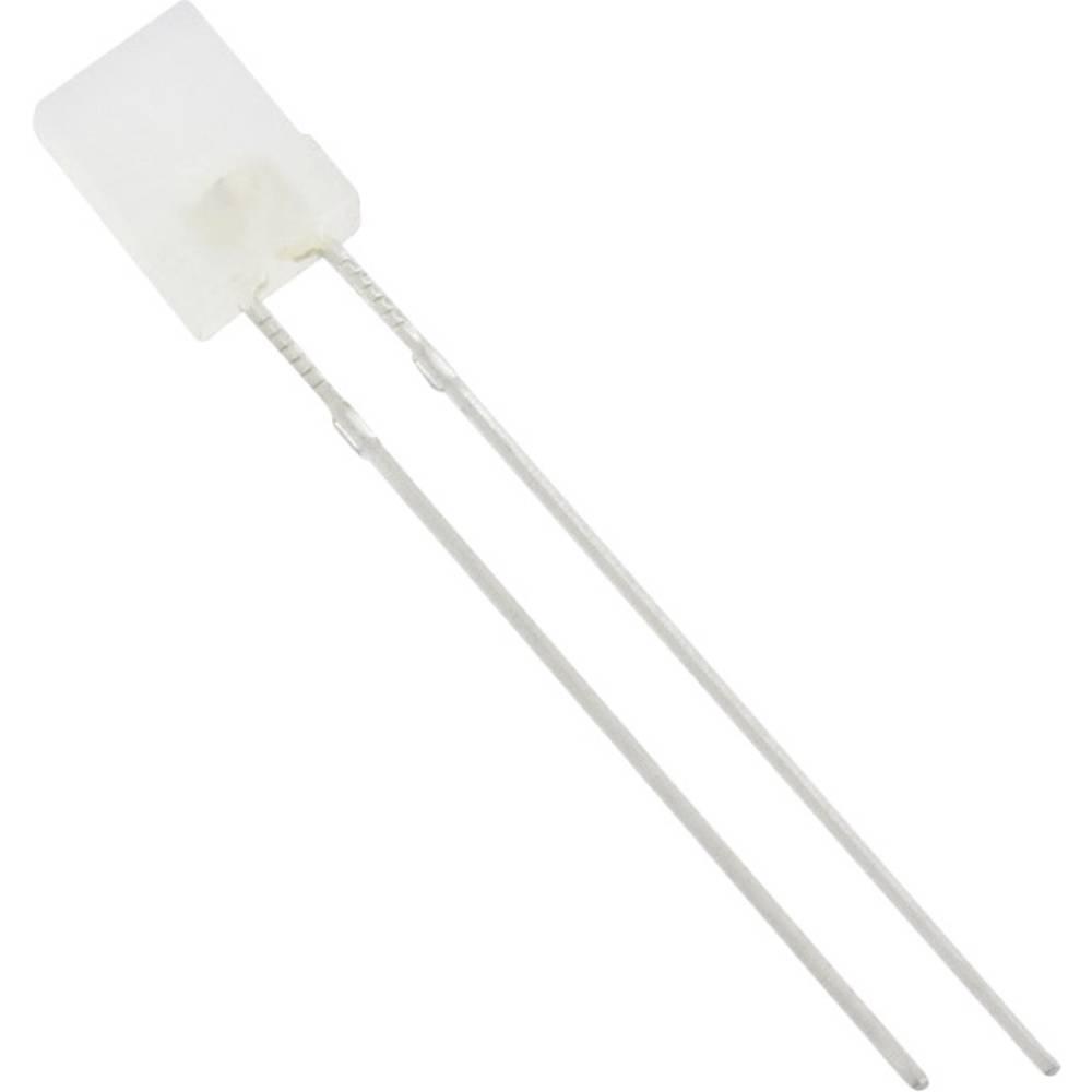 Ožičena LED dioda, bele barve, pravokotna 2 x 5 mm 1250 mcd 120 ° 20 mA TRU Components
