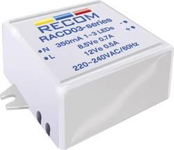 Konstant LED-strømkilde 3 W 350 mA 12 V/DC Recom Lighting RACD03-350 Driftsspænding maks.: 264 V/AC