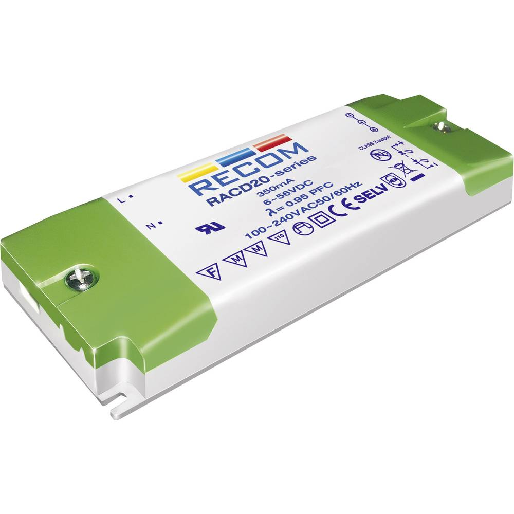 Recom Lighting Racd20 700 Led Driver Constant Current 20 W 07 A 6 Circuit Series Protection 29