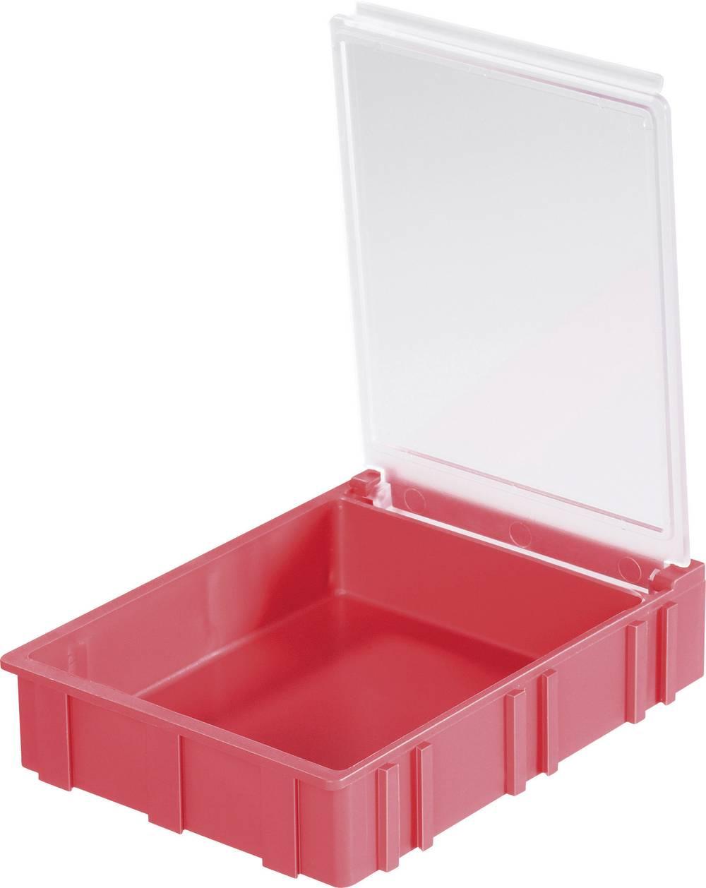 SMD škatla, rdeča, barva pokrova: prozorna 1 kos (D x Š x V) 68 x 57 x 15 mm Licefa N42361