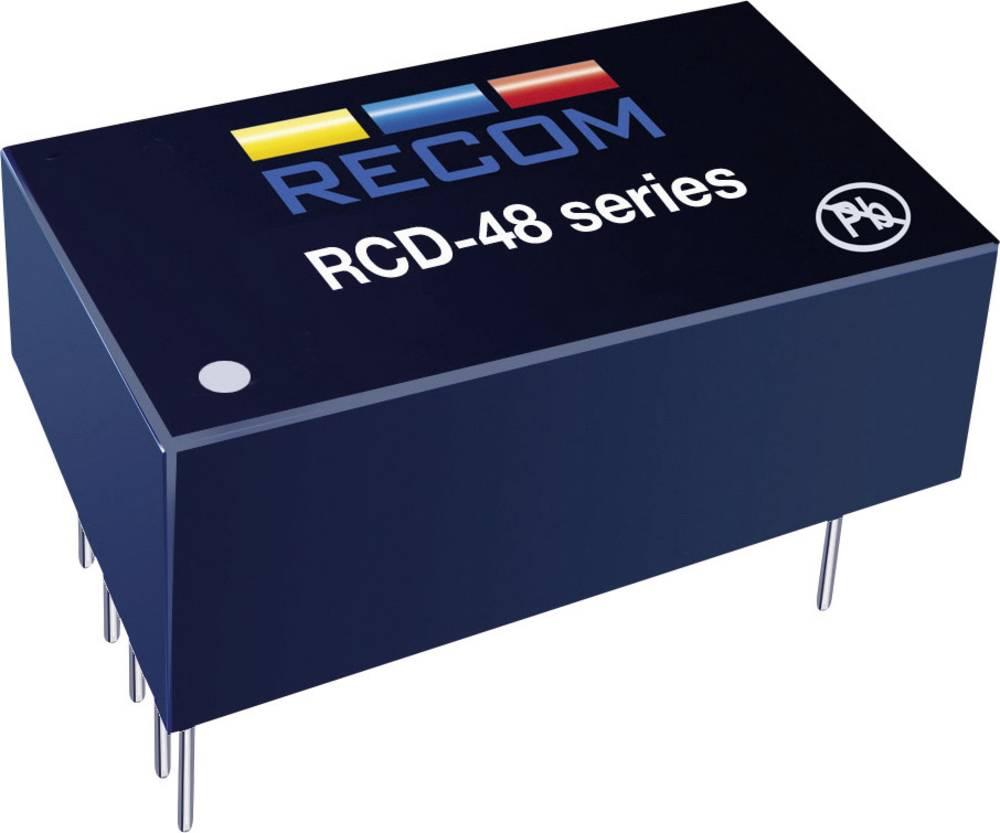 LED-driver 350 mA 56 V/DC Analog dæmpning, PWM-dæmpning Recom Lighting RCD-48-0.35/W Driftsspænding maks.: 60 V/DC