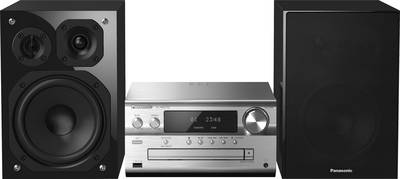 Image of Panasonic SC-PMX152EGS Audio system AirPlay, CD, DAB+, LAN, FM, USB, WiFi, High-res audio, Multi-room 2 x 60 W Black, Si