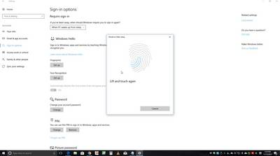 "USB fingerprint reader Renkforce""Windows Hello"""