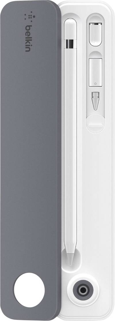 Compare cheap offers & prices of Belkin Case + Stand for Apple Pencil - White/Grey manufactured by Belkin