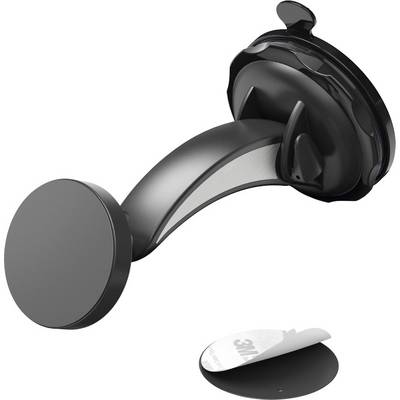 Image of Hama Magnet Suction cup Car mobile phone holder 360° swivel, Magnetic fastener