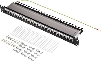 24 ports Network patch panel Renkforce KSV-PATCH-24PL CAT 6 1 U
