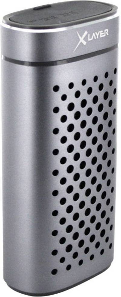 Image of Xlayer Powerbank PLUS Speaker Bluetooth speaker Handsfree, spray-proof Graphite (metallic)