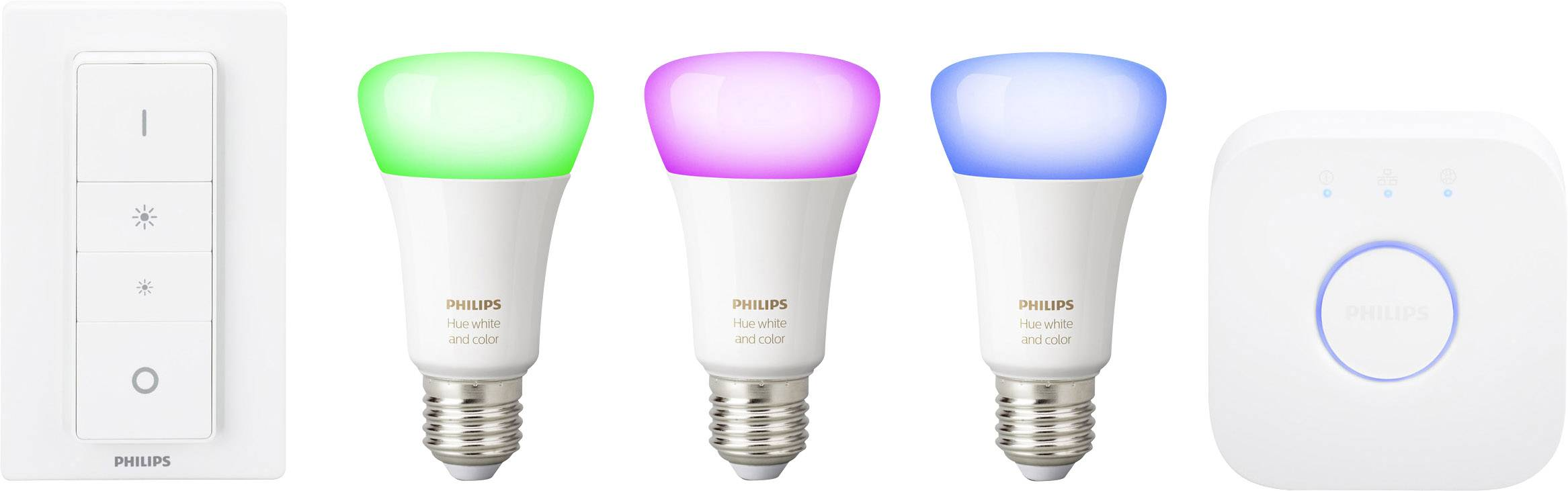 Philips Hue Starter Pack.Philips Lighting Hue Starter Kit White And Color Ambiance E27 10 W