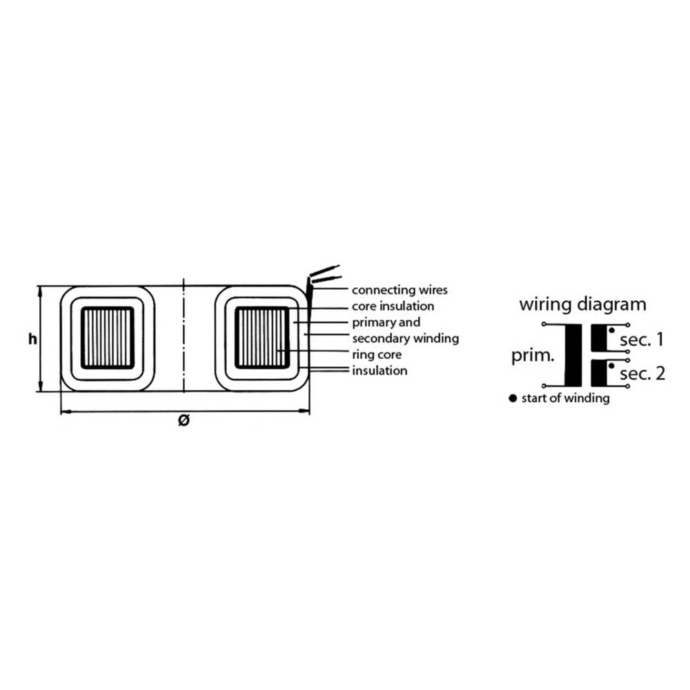 Toroidal Core Transformer 1 X 230 V 2 12 120 Va 5000 Ma From 240 Volt Wiring Diagram Lines