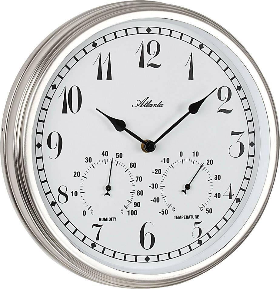 Quartz Wall Clock Atlanta Uhren 4447 300 Mm Silver