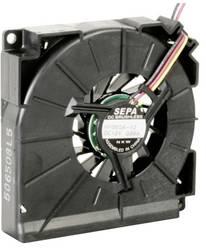 Radial ventilator 12 V/DC 7.9 m³/h (L x B x H) 59.5 x 12.5 x 59.5 mm SEPA HYB60A12