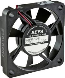 Aksial ventilator 12 V/DC 14.3 m³/h (L x B x H) 50 x 10.2 x 50 mm SEPA MFB50E12A