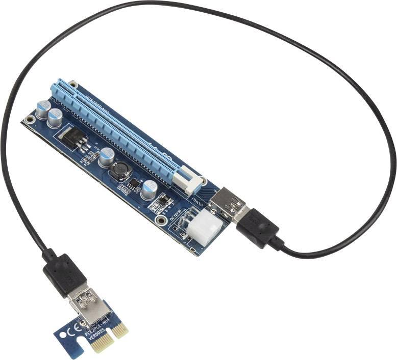 60cm Kolink PCI-E x1 Auf x16 Riser Card potenziato//Rendering-Kit SATA