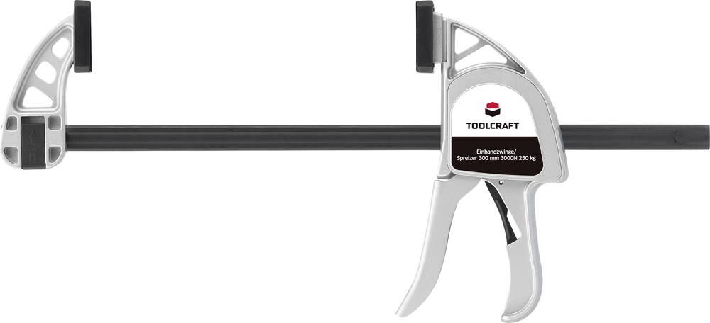toolcraft alu-einhandzwinge 300 x 85 mm 3000 n 1595615 nosing length
