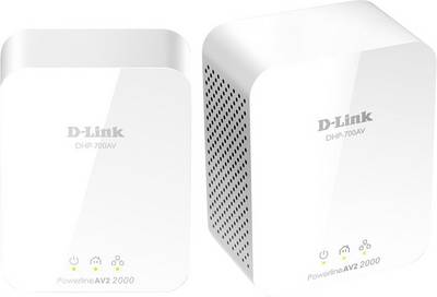D-Link 2000Mbit Powerline AV2 Kit Powerline starter kit 1900 Mbps