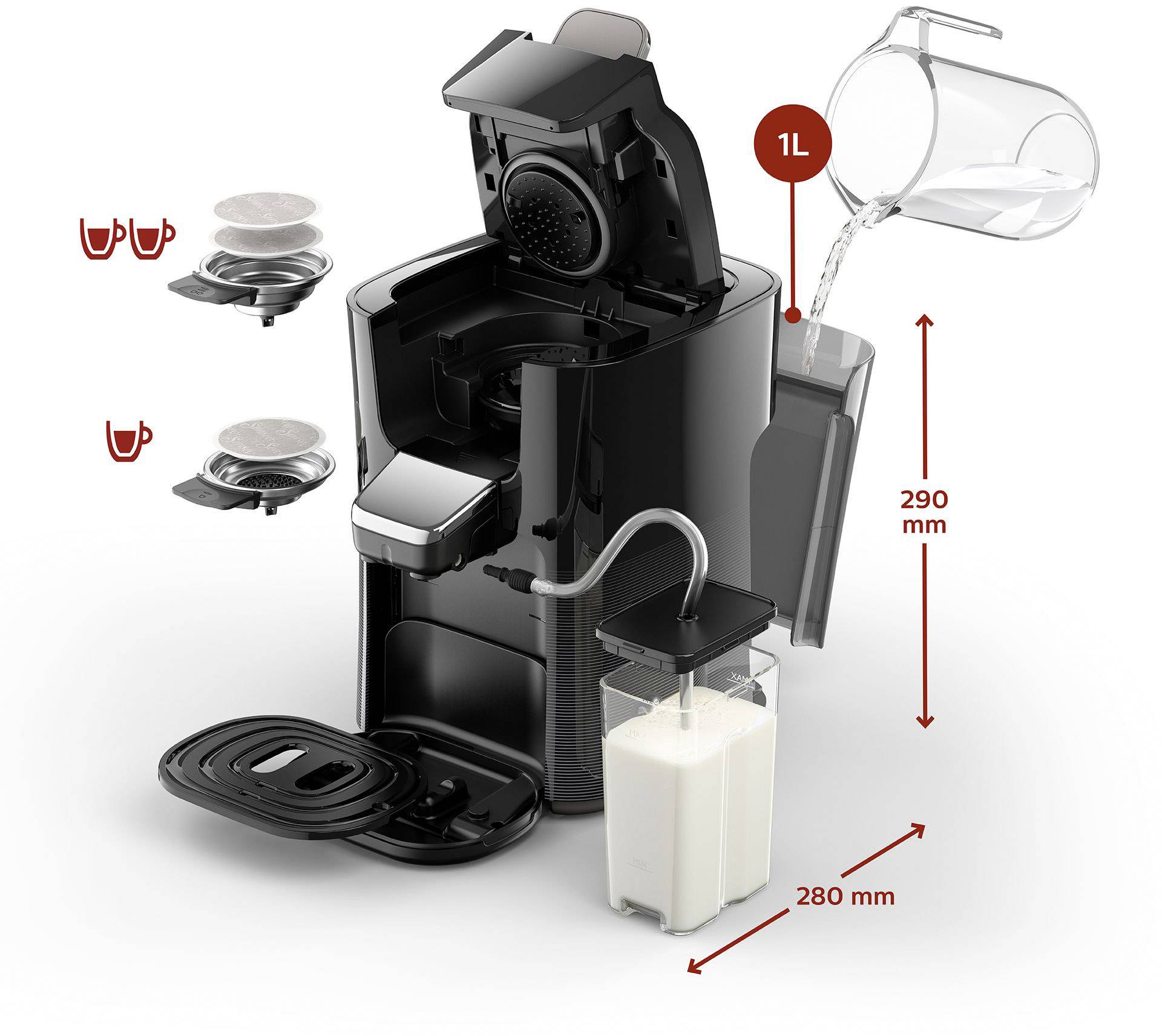 SENSEO® HD6574/50 Latte Duo Plus Pod Coffee Machine